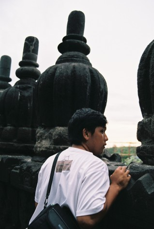Looking out from Prambanan Temple
